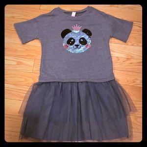 Justice sweatshirt & tulle sequin panda dress